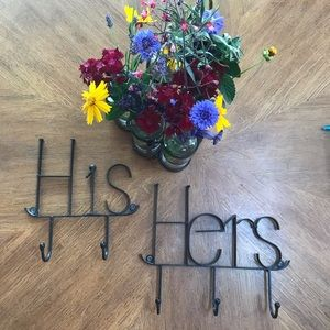 Other - His and Hers black metal hooks